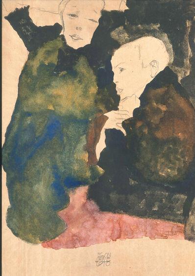Egon Schiele, 'Vorstadtkinder', 1990
