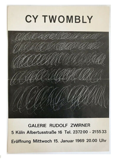 "Cy Twombly, '""Cy Twombly"", 1969, Exhibition Mailer/Poster, Galerie Rudolf Zwirner Germany', 1969"