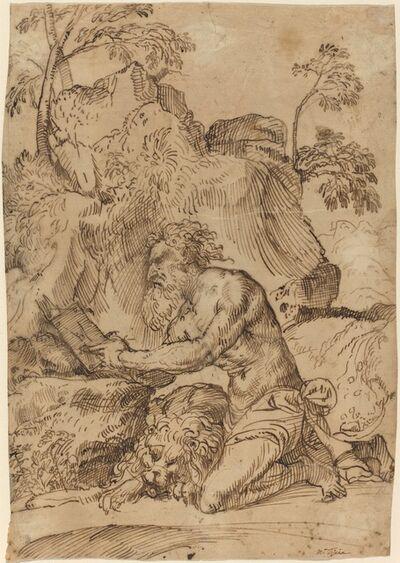Domenico Campagnola, 'Saint Jerome Reading in a Landscape', 1520s/1530s
