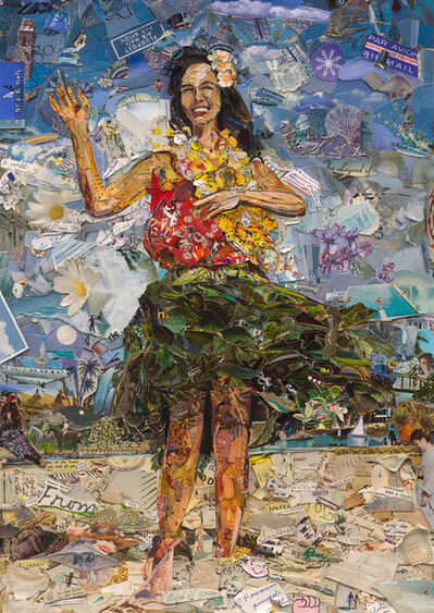 Vik Muniz, 'Postcards from Nowhere: Hula Dancer', 2014