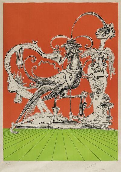 Salvador Dalí, 'A plate, from Les Songes drolatiques de Pantagruel (Field 73-7-H; M&L 1418a)', 1973
