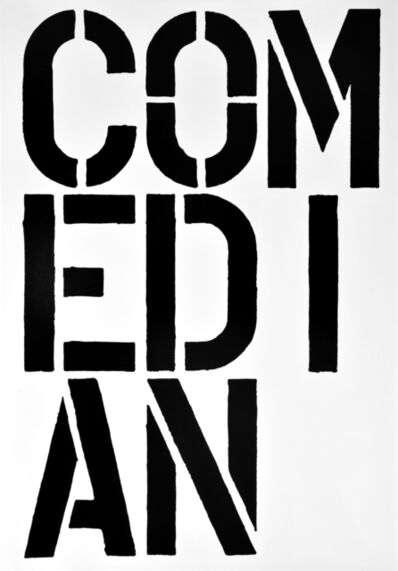 Christopher Wool, 'COMEDIAN, page from the Black Book', 1989