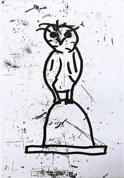 Donald Baechler, 'Owl (Plate VI)', 1992
