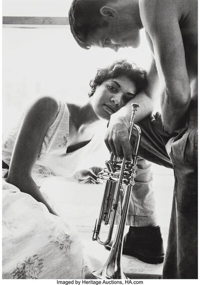 William Claxton, 'Halina and Chet Baker, Redondo Beach', 1955