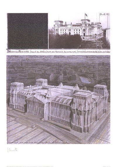 Christo, 'Wrapped Reichstag, Project for Berlin, No. V', 1993