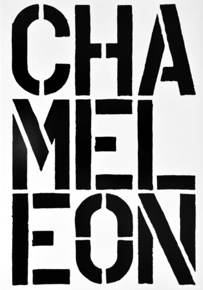 Christopher Wool, 'CHAMELEON, page from the Black Book', 1989