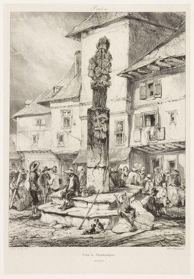 Eugène Isabey, 'Croix de Chaudesaigues', 1833