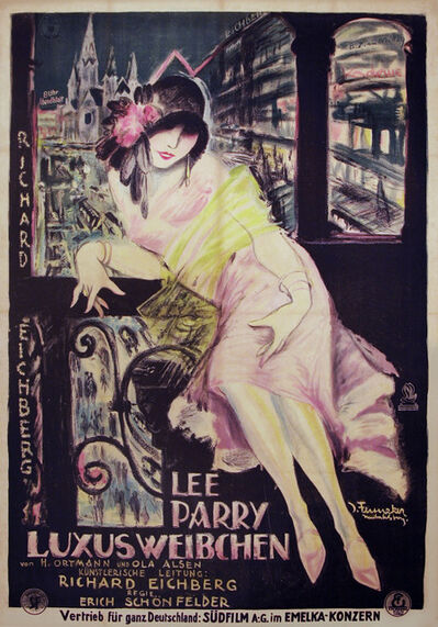 Josef Fenneker, 'Lee Parry in Luxusweibchen - Film Poster', 1925