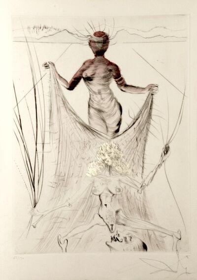 Salvador Dalí, 'La Venus aux Fourrures Woman Holding Veil', 1968