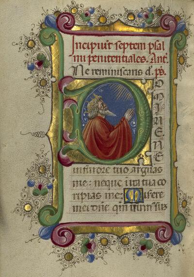 Taddeo Crivelli, 'Initial D: David in Prayer', 1469
