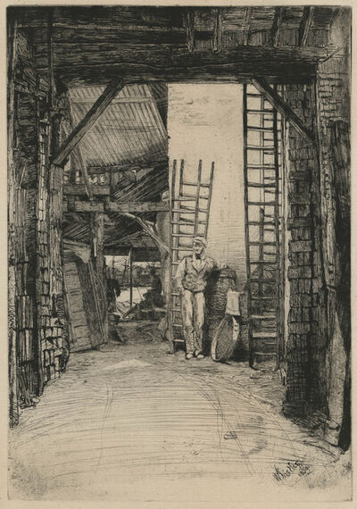 James Abbott McNeill Whistler, 'The Lime-Burner', 1859