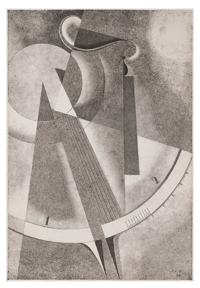 Karol Hiller, 'Heliographic composition with a scale XXXVII', 1939