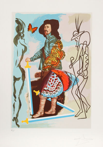 Salvador Dalí, 'Courtier from Papillon Anciennes', 1976