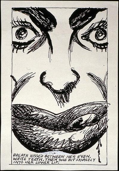 Raymond Pettibon, 'No Title (Breath hissed between)', 1984