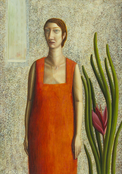 Helen Flockhart, 'Woman in orange dress', 2017