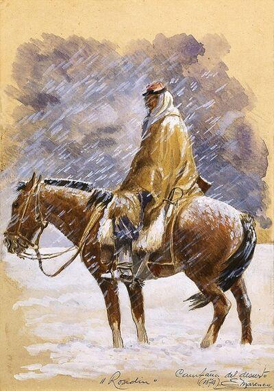Eleodoro E. Marenco, 'Campaña del desierto: Rondín (Desert Campaign: Making the Rounds)', 1879