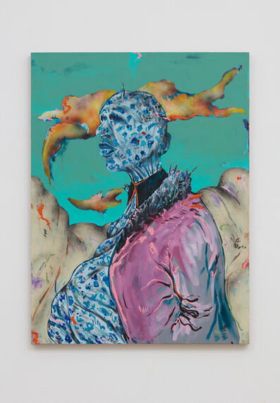 Simphiwe Ndzube, 'Untitled Portrait I (The Gravediggers)', 2018