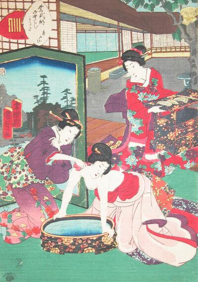 Utagawa Kunisada II, 'Chapter 9; Aoi (Heart Vine)', 1857
