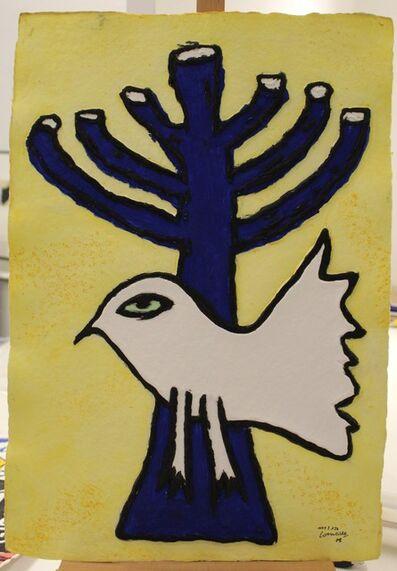 "Guillaume Corneille, 'aquaprint on embossed handmade paper ""Menorah""', 2008"