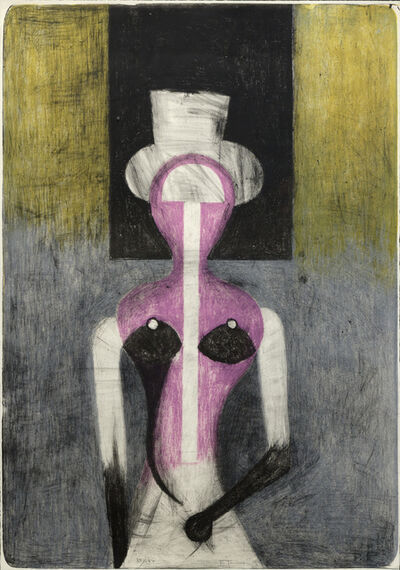 Rufino Tamayo, 'Mujer con Sombrero', 1972
