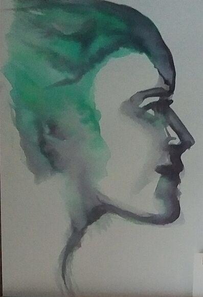 Alexandra Bregman, 'Man's Face in Green', 2017