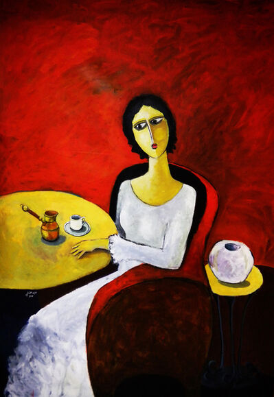 Tagreed AlBagshi, 'A Woman With A Cup of Coffee', 2011