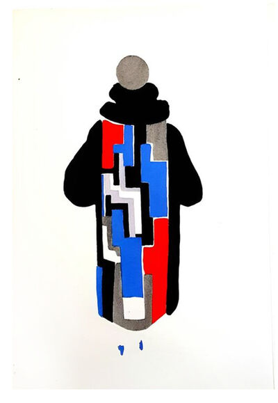 "Sonia Delaunay, 'Original Pochoir ""27 Living Paintings XIII"" by Sonia Delaunay', 1969"