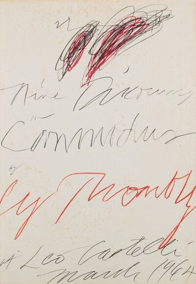 Cy Twombly, 'Nine discourses on Commodus by Cy Twombly at Leo Castelli', 1964