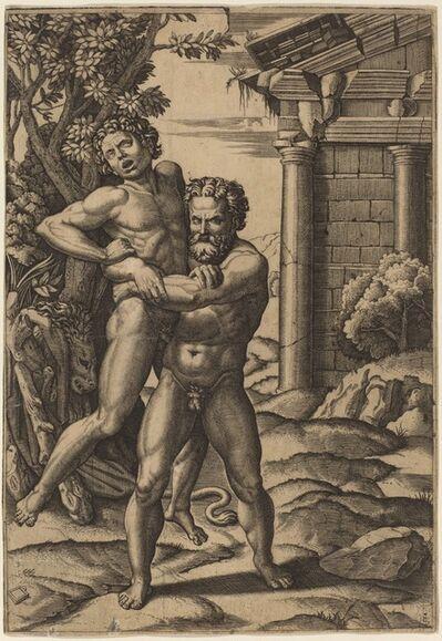 Marcantonio Raimondi after Raphael, 'Hercules and Antaeus', after 1520