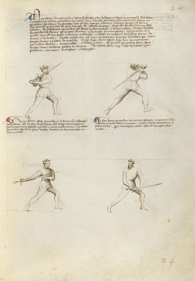 Fiore Furlan dei Liberi da Premariacco, 'Four Figures with Swords', 1410