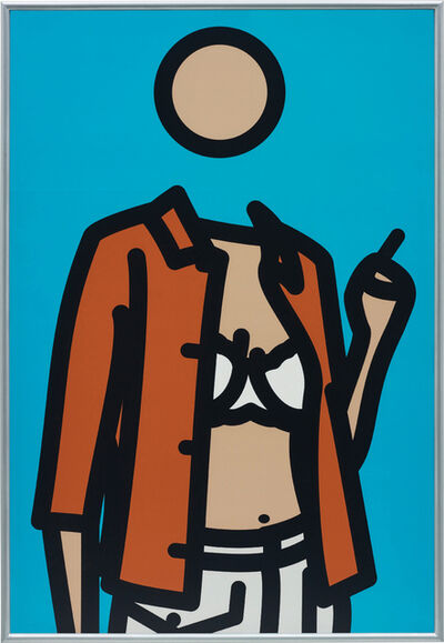 Julian Opie, 'Ruth with Cigarette 1', 2005-2006