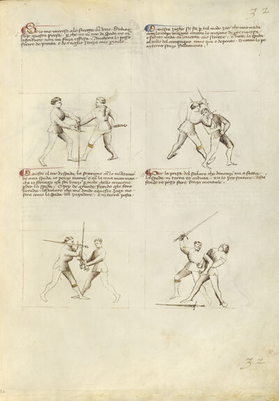 Fiore Furlan dei Liberi da Premariacco, 'Combat with Sword', 1410
