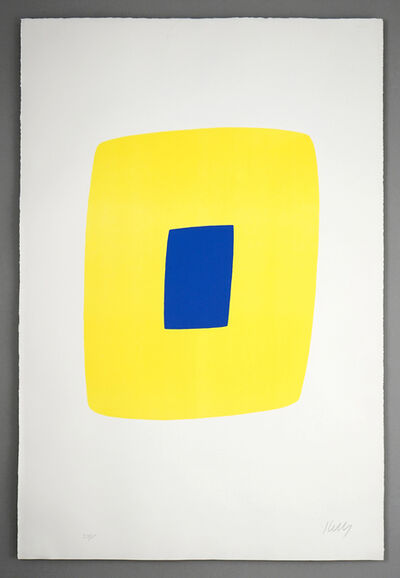 Ellsworth Kelly, 'Yellow with Dark Blue (Jaune avec Bleu Foncé), from the Suite of Twenty-Seven Color Lithographs', 1964-65