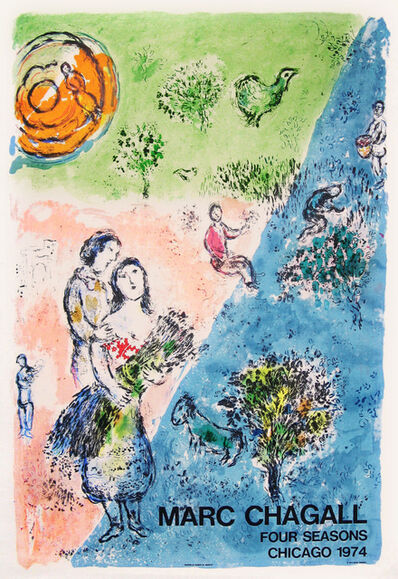 Marc Chagall, 'Four Seasons Chicago 1974 - Exhibition Poster', 1974