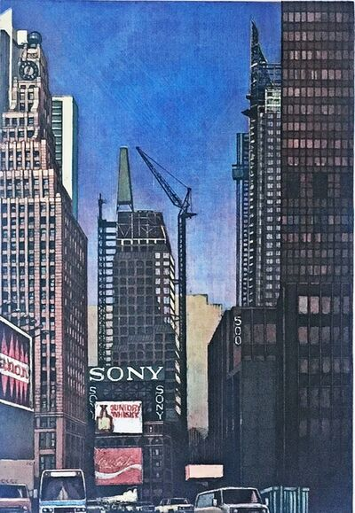 Richard Haas, 'Times Square Looking North [from 42nd Street] ', 1990