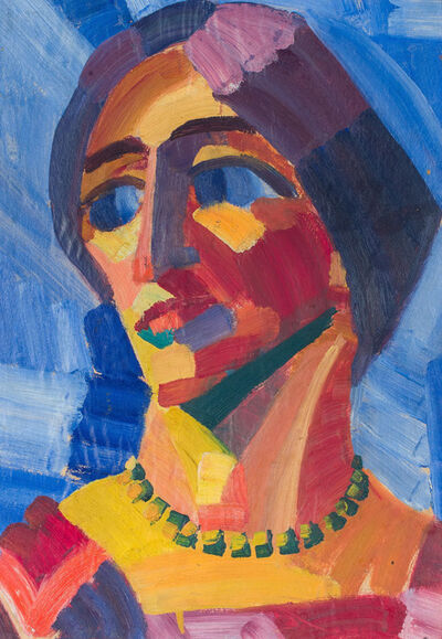 Yun Gee, 'Head of a Woman with Necklace', 1926
