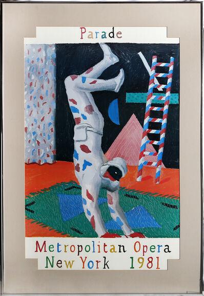 David Hockney, 'Parade, Metropolitan Opera', 1981