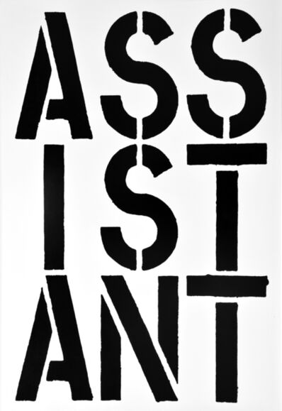 Christopher Wool, 'ASSISTANT, page from the Black Book', 1989