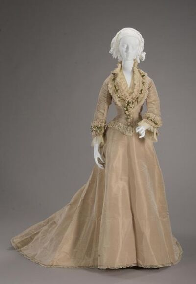 I.W. Caley, 'Wedding Dress', 1875