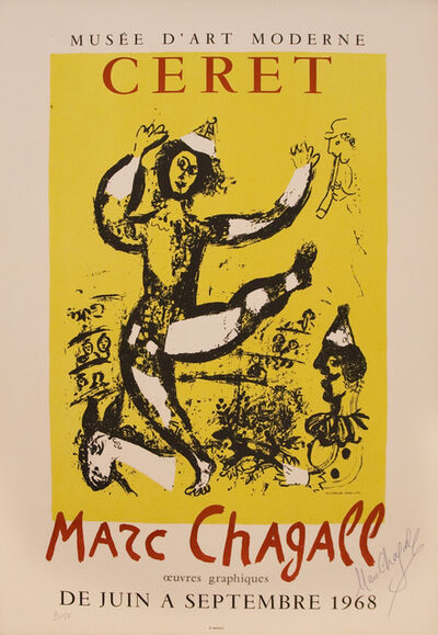 Marc Chagall, 'Ceret - Musee D'art Moderne - Hand Signed 2/15', 1968
