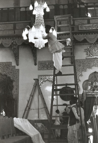 Henri Cartier-Bresson, 'Changing Lights in a Chandelier, India', 1940s/1940s