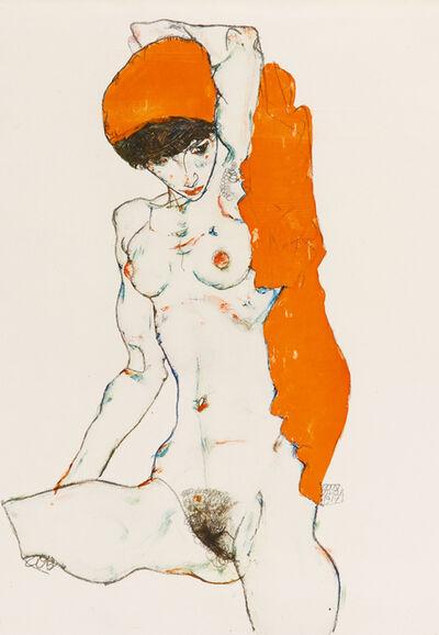 Egon Schiele, 'Sitting Female Nude', 1920