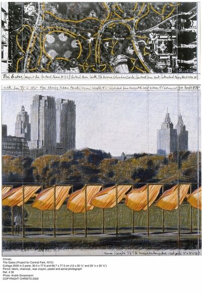 Christo and Jeanne-Claude, 'The Gates Diptych (Project for Central Park, NYC)', 2000