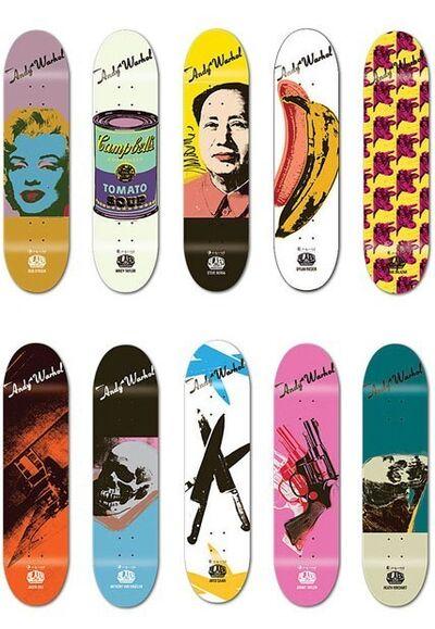Andy Warhol, 'Skateboard set of 10', 2010
