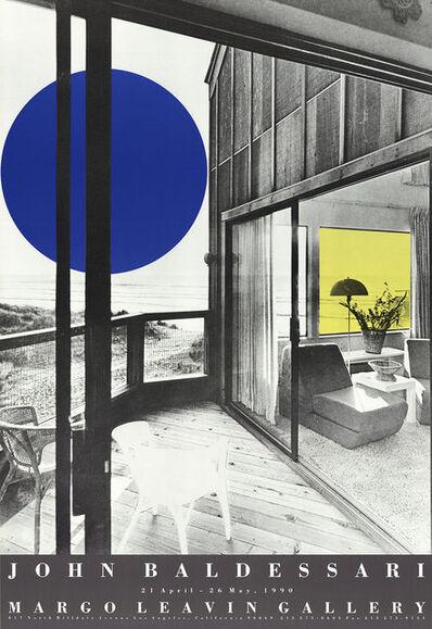 John Baldessari, 'Margo Leavin Gallery poster', 1990