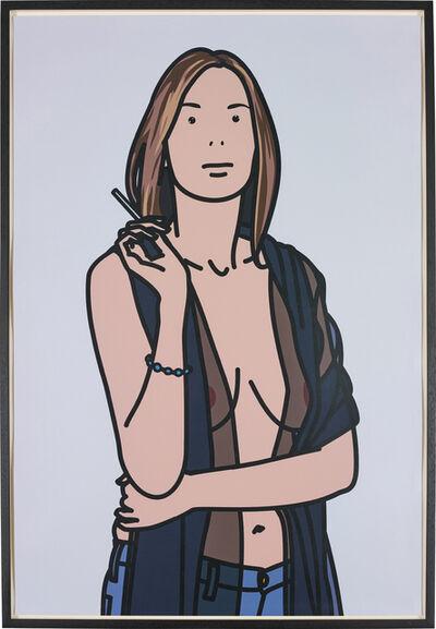 Julian Opie, 'Ruth Smoking 5', 2006