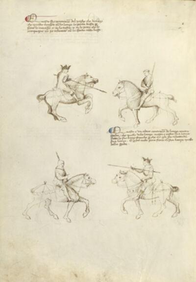 Fiore Furlan dei Liberi da Premariacco, 'Equestrian Combat with Lance and Sword', 1410