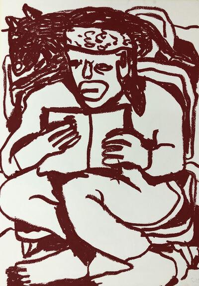 Conny Maier, 'D.F.W. LESEND MIT HUND', 2019