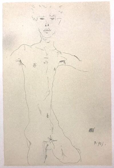 Egon Schiele, 'Standing Male Nude', 2007