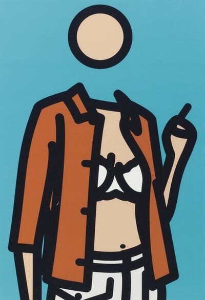 Julian Opie, 'Ruth With Cigarette 1 ', 2005